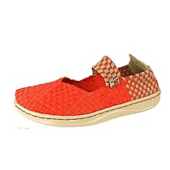 Hey Dude - Orange 'E Last Mary Jane' canvas shoes