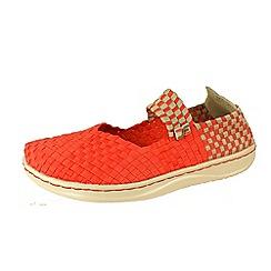 Hey Dude - Orange 'E Last Mary Jane' canvas shoes