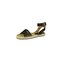 Bronx - Black 'Jute' sandals