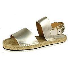 Bronx - Silver bronx 'Jute' sandals