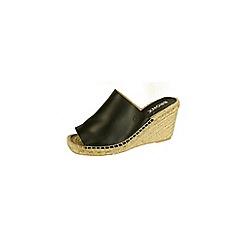 Bronx - Black 'Slate' wedge sandals