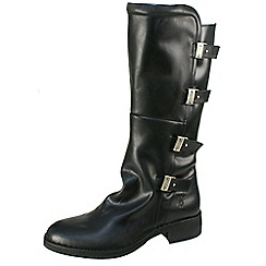 Fly London - Black 'Felk' multi strap miltary boot