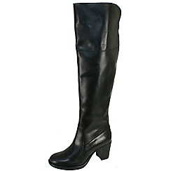 Fly London - Black Halo over the knee boots with inside zip