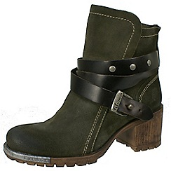 Fly London - Dark olive Lok sludge engineer boot