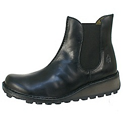 Fly London - Black Muna black Chelsea boot