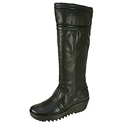 Fly London - Black 'Ruta' high leg inside zip boots