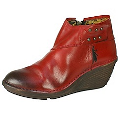 Fly London - Dark red 'Sade' inside zip ankle boots