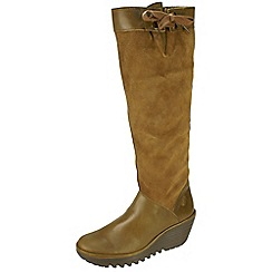 Fly London - Camel 'Yafe' suede boots with inside zip