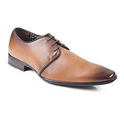 Front - Mid brown 'Mazza' shoes