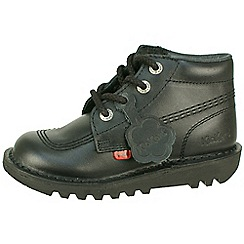 Kickers - Black kick hi core classic 'Kickers leather boots'