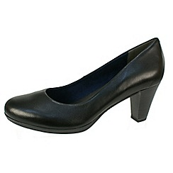 Tamaris - Black mid-heeled court shoe