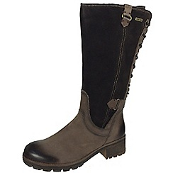 Tamaris - Brown 26534 Mocca boots - suede with back lace
