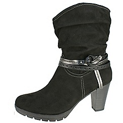 Tamaris - Black women's microfibre boot with mid heel