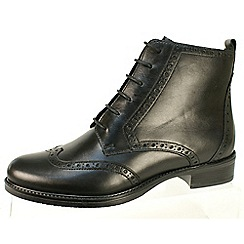 Tamaris - Black leather lace up boot