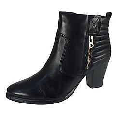 Tamaris - Black 25331 black padded zip boots
