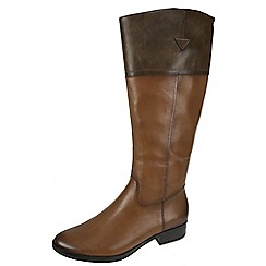 Tamaris - Tan Tan riding boot with inside zip