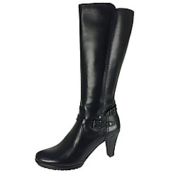 Tamaris - Black 25632 black zip boots