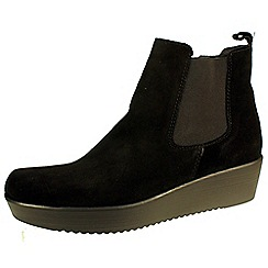 Tamaris - Black chelsea boot with inside zip