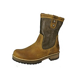 Tamaris - Camel inside zip boot with faux fleece lining