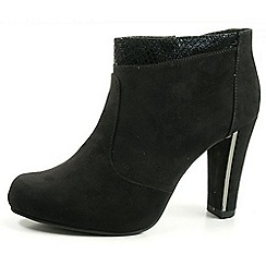Tamaris - Black 25052 faux suede zip boot