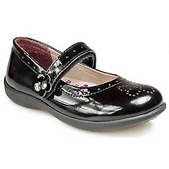 Pod - Black patent leather black girl's shoe