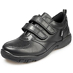 Pod - Black  leather infant boys school shoe