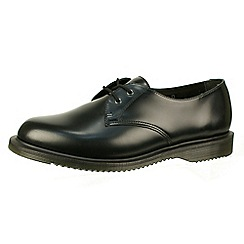 Dr Martens - Black 'Brook' polished smooth black lace up shoes