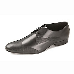 Ikon - Black men's formal leather shoes