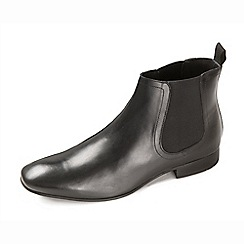 Ikon - Men's black boot with twin gusset