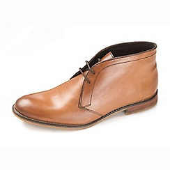 Ikon - Men's tan lace up formal boots