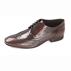 Ikon - Brown men's formal bordo high shine shoe