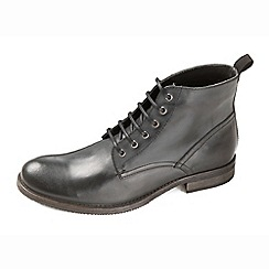 Ikon - Black smart casual lace up boot