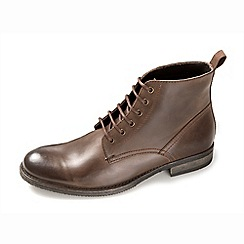 Ikon - Aqua men's brown lace up boots