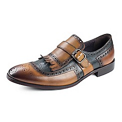 Azor - Men's brown fringed formal shoes