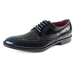 Azor - Blue Men's formal blue leather shoes