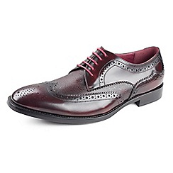 Azor - Dark red Men's formal burgundy leather shoe