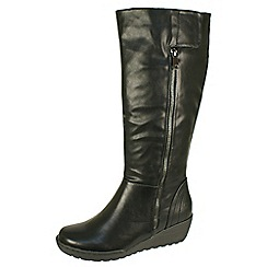 Heavenly Feet - Black 'Sandstorm' black high boots with inside zip