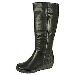 Heavenly Feet - Black 'Sandstorm' black high boots with inside zip