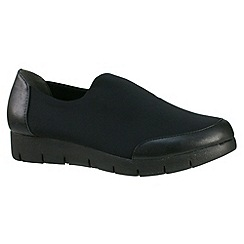 Tamaris - Black Black slip on elasticated shoe