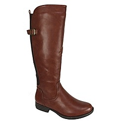 Heavenly Feet - Tan Nikki brandy high zip boots