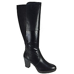 Tamaris - Black 25576 black zip boots