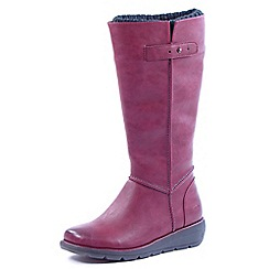 Heavenly Feet - Wine Sahara claret calf length zip boots