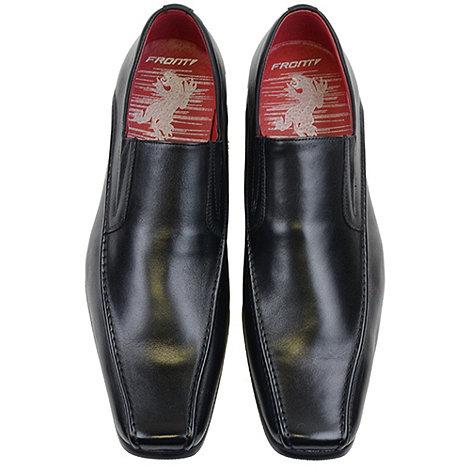 Front - Black andorra fr310 loafers moccs shoes