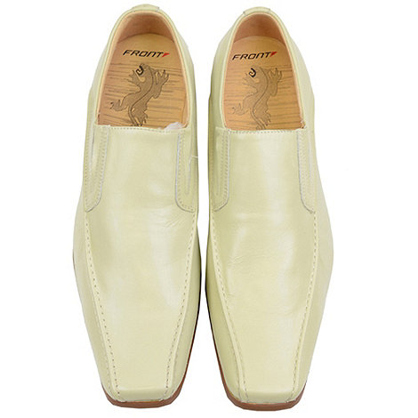 Front - Beige andorra fr310 loafers moccs shoes