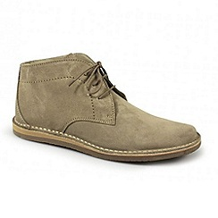Ikon - Men's beige lace up boots