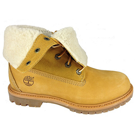 Timberland - Wheat nubuck authentics teddy fleece fold down ankle boots