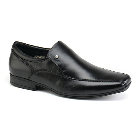 Front - Black belmont loafers moccs shoes