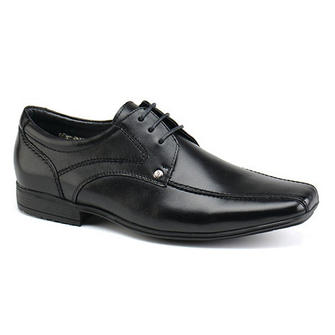 Front - Mens black snowden formal shoes