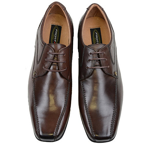 Front - Brown snowden formal shoes