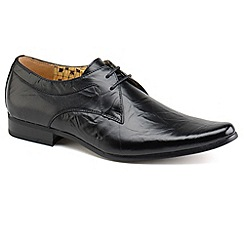 Front - Black 'Rossi' formal shoes